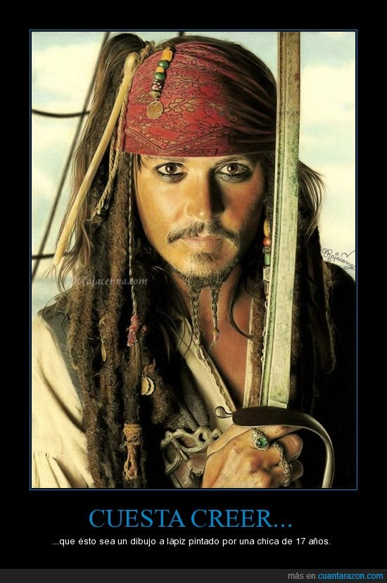 artista,impresionante,jack sparrow,johnny depp,lápiz,pirata,rajacenna
