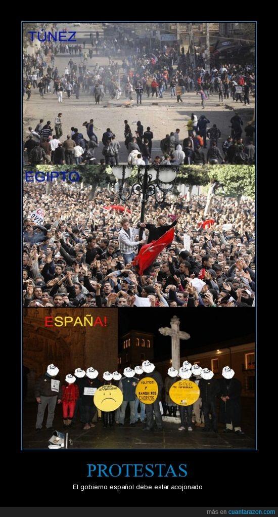 broma,egipto,españa,protestas,tunez