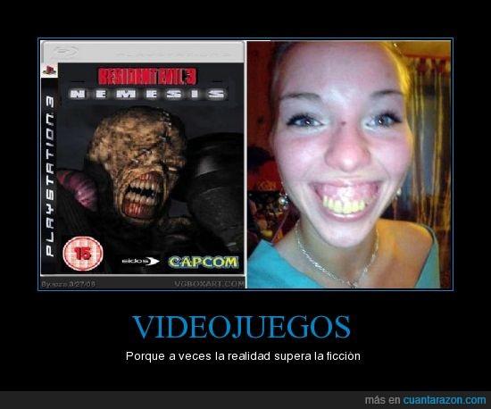 dientes,fea,ficcion,resident,videojuegos,zombies