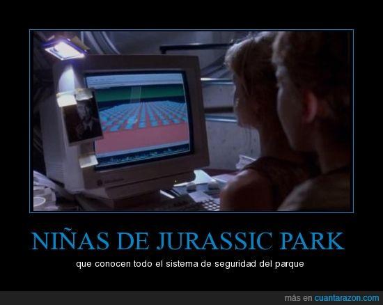 ordenador,parque jurasico,seguridad