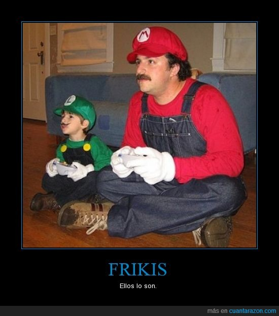 frikis,hijo,jugar,Mario,padre