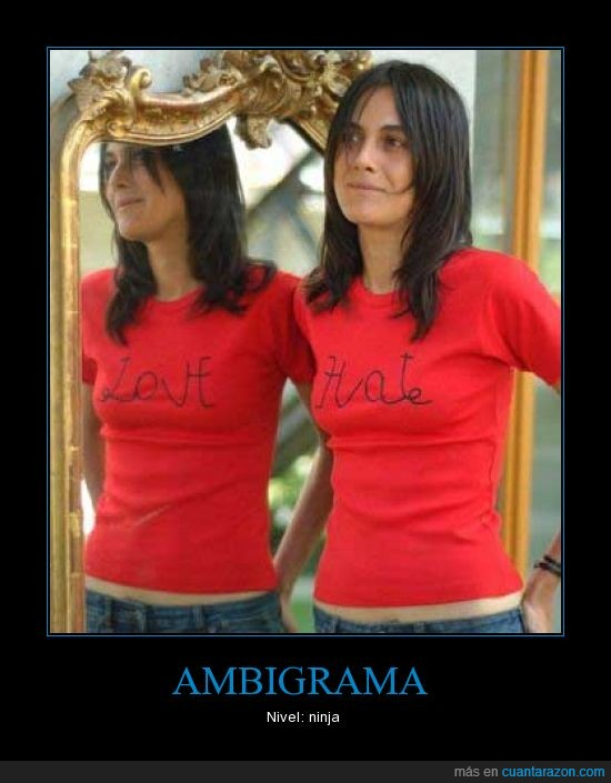 ambigrama,amor,camiseta,odio