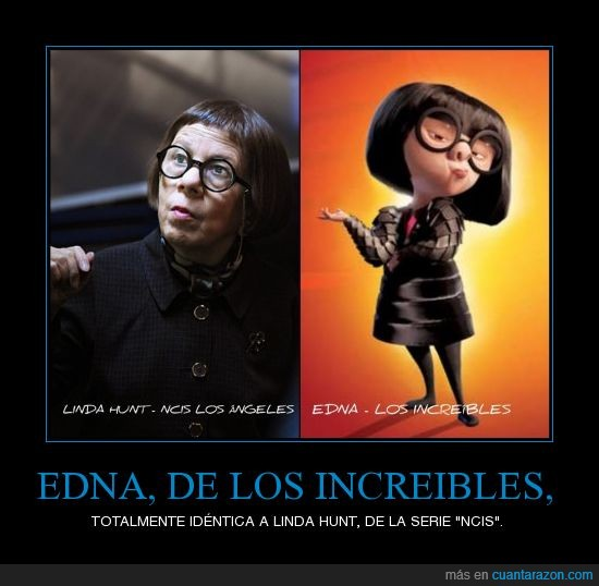 Edna,Hunt,Linda,los angeles,los increibles,modista,NCIS,personaje de dibujos