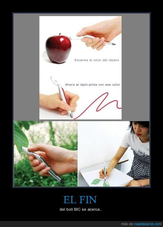 bic,bolígrafo,color,escanear