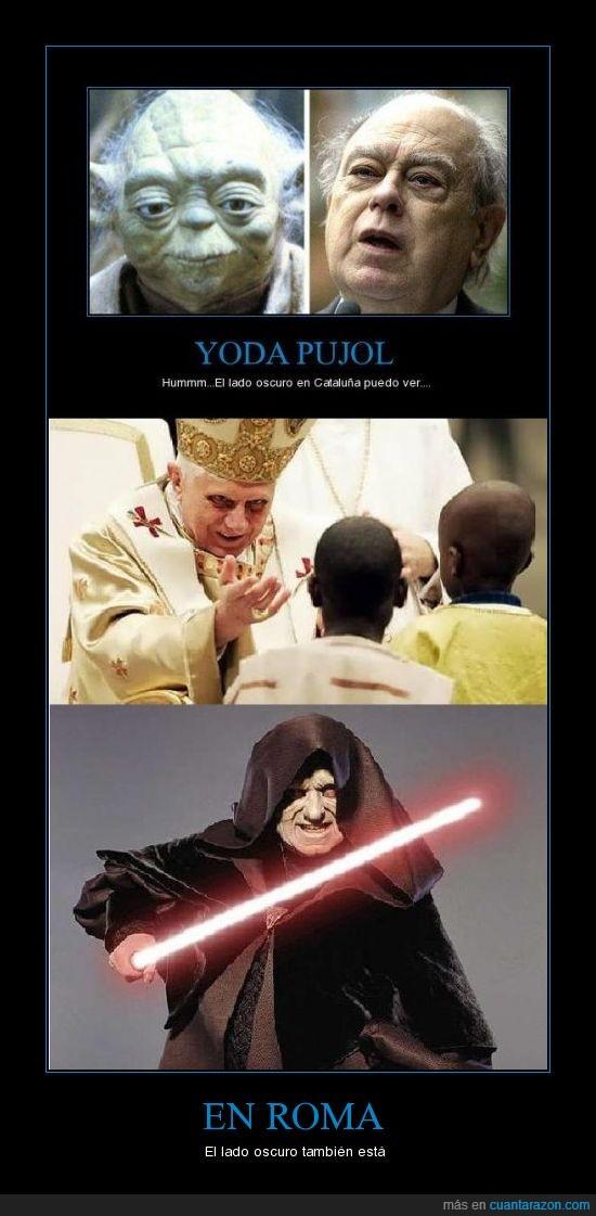 Papa,Pujol,Sith,Yoda