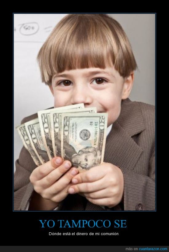 comunion,dinero,niño