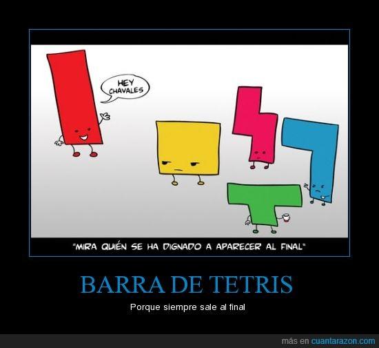 aparecer,barra,final,salir,tetris