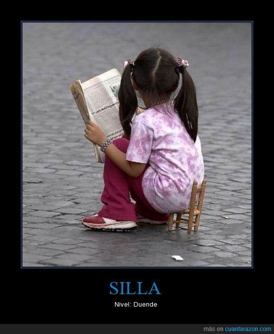 niña,pequeña,silla