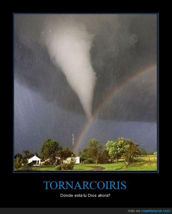 arco iris,rainbow,tornado
