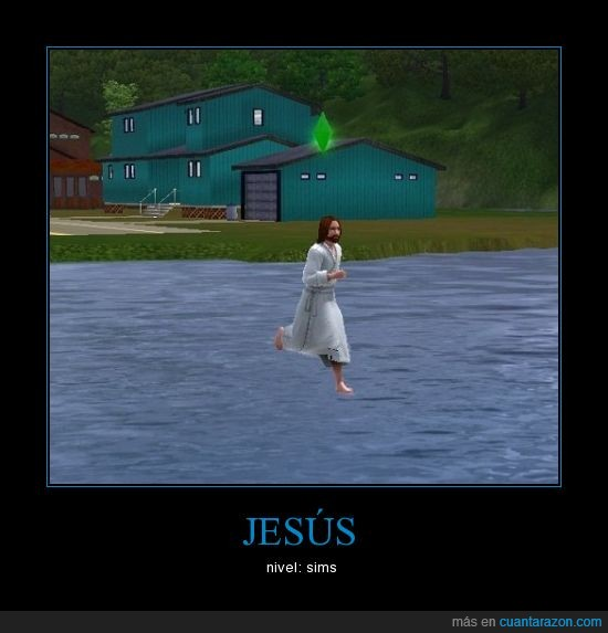 Jesus,LOL,nivel,religion,sims
