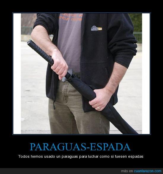 espada,lucha,paraguas