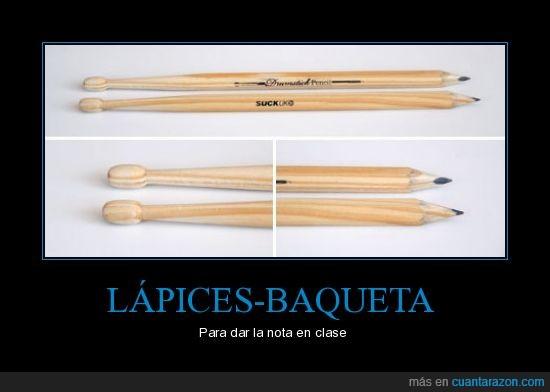 baqueta,clase,lápices,lápiz