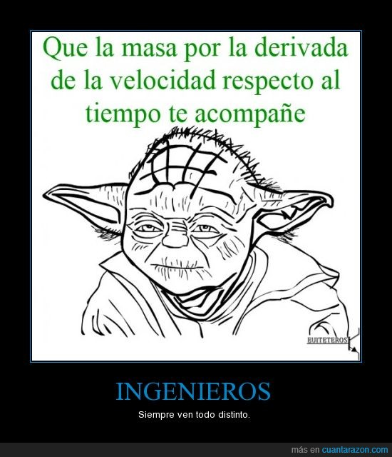 derivada,fuerza,ingenieros,masa,star wars,yoda