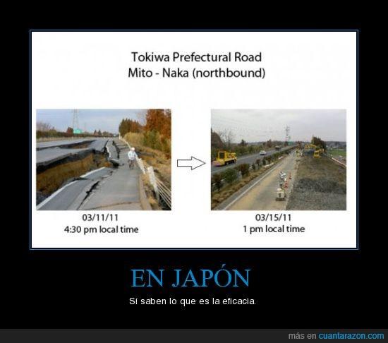 carretera,eficacia,Japón,terremoto,trabajo