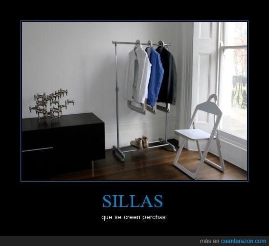 percha,ropa,sillas