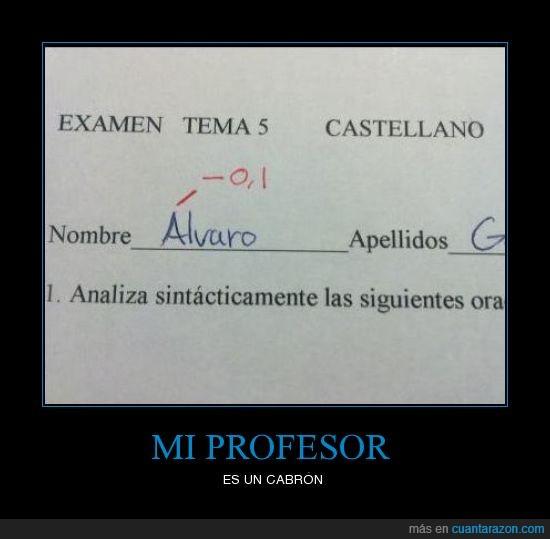 examen,nombre,profesor,tilde
