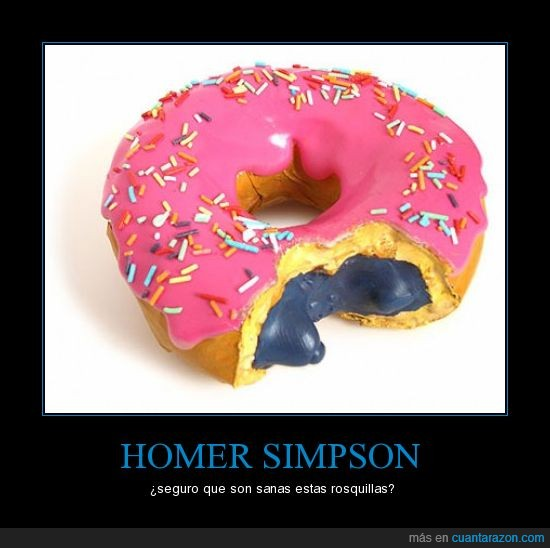 homer simpson,rosquilla