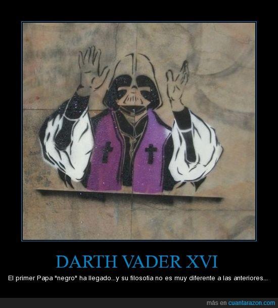 catolicismo,darth vader,iglesia,jedi,lado oscuro,papa,religion,sith,yoda