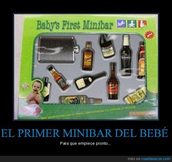 bebe,botellón,minibar
