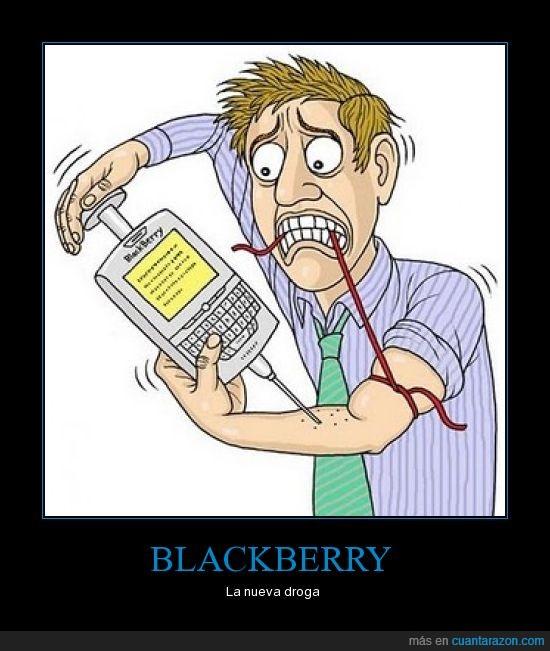 adicción,blackberry,droga