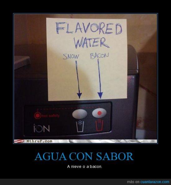 agua,sabor