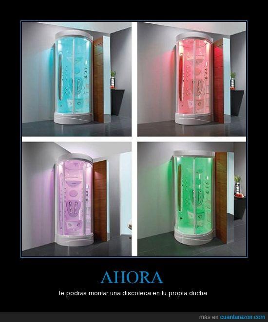 discoteca,ducha,luzes