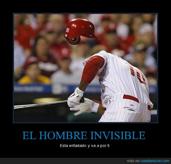 beisbol,hombre invisible