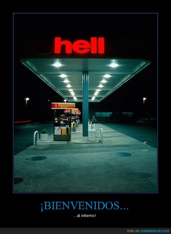gasolinera,hell,infierno,wtf