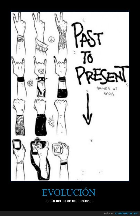 conciertos,evolución,manos,puños