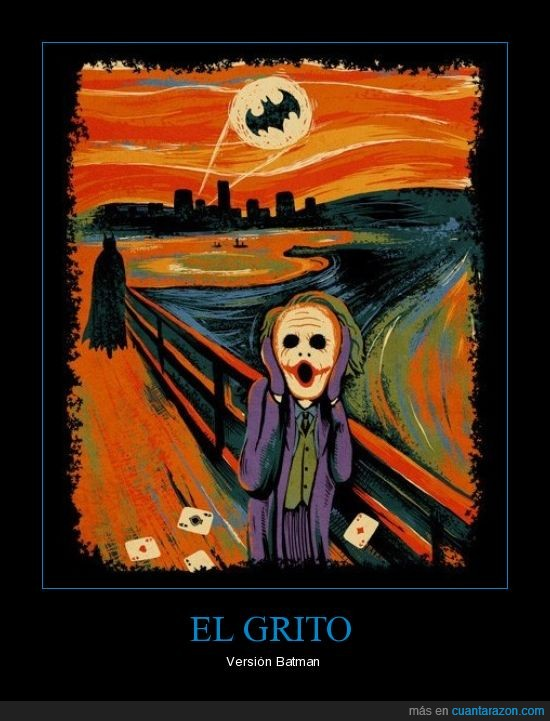 batman,grito,joker,munch