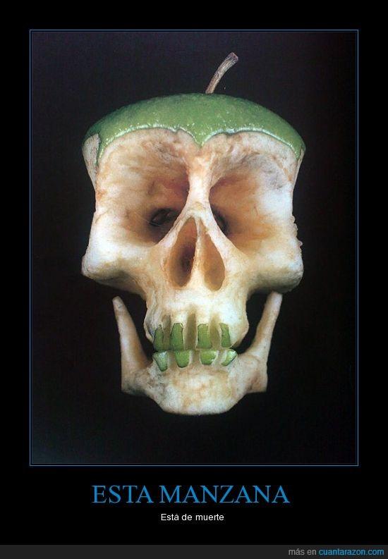 calavera,manzana,muerte