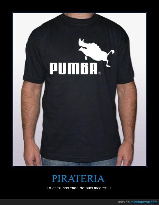 camiseta,puma,pumba