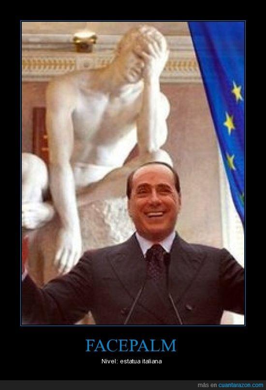 Berlusconi,facepalm,política