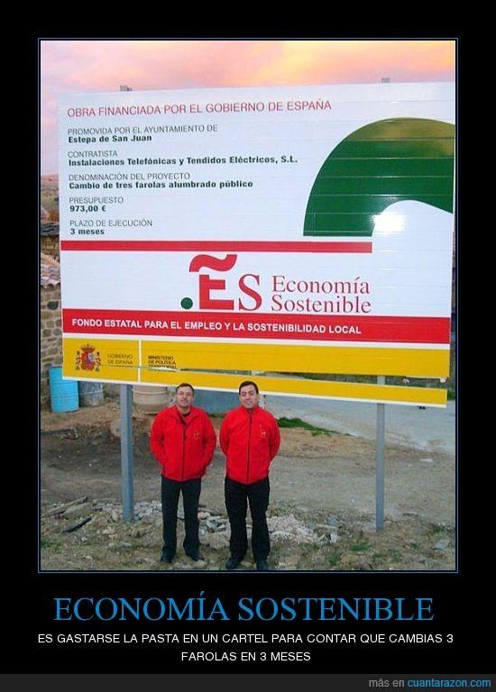 cartel,economia,españa,gobierno,sostenible
