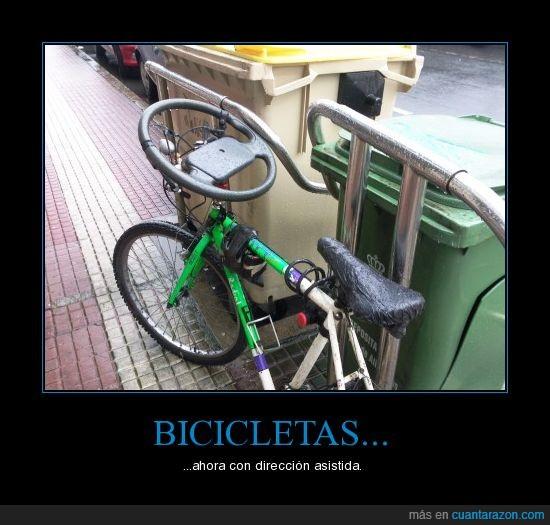 bicicleta,coche,contenedor,friki,increible,movil,volante