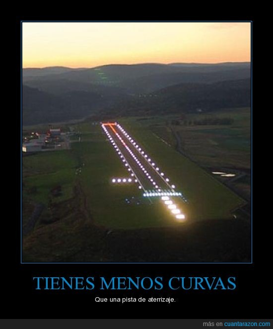 avión,curvas,luces,pista
