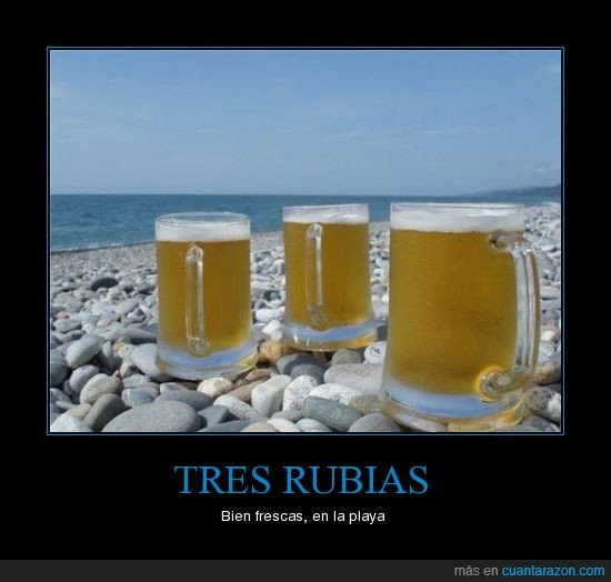 cerveza,mar,piedras,playa,rubias