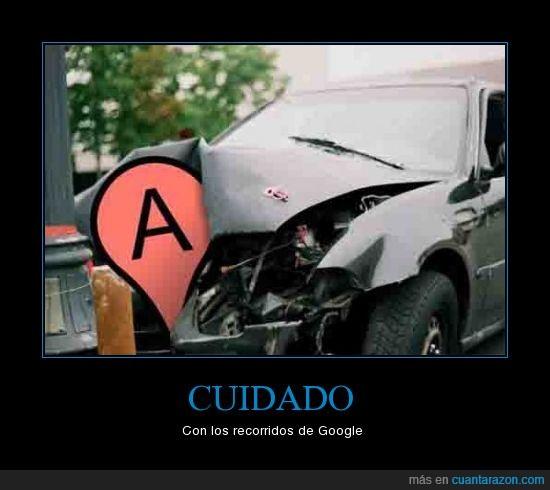 accidente,coche,destrozo,google,recorrido