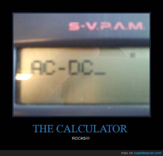 calculadora,propaganda,rock