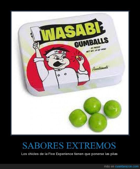 chicles,extremo,sabor,wasabi