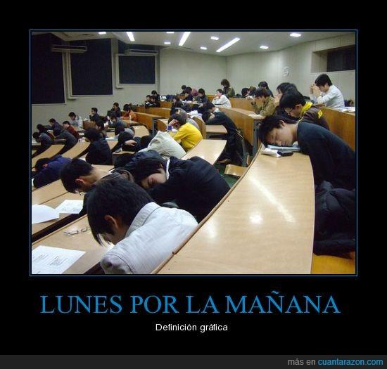 clase,dormir,lunes,universidad