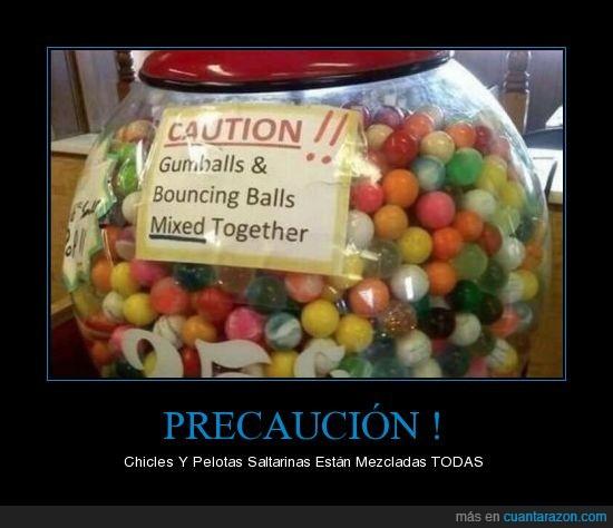 cartel,chicle,pelotas,saltarina