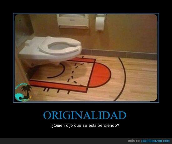 baloncesto,baño,originalidad