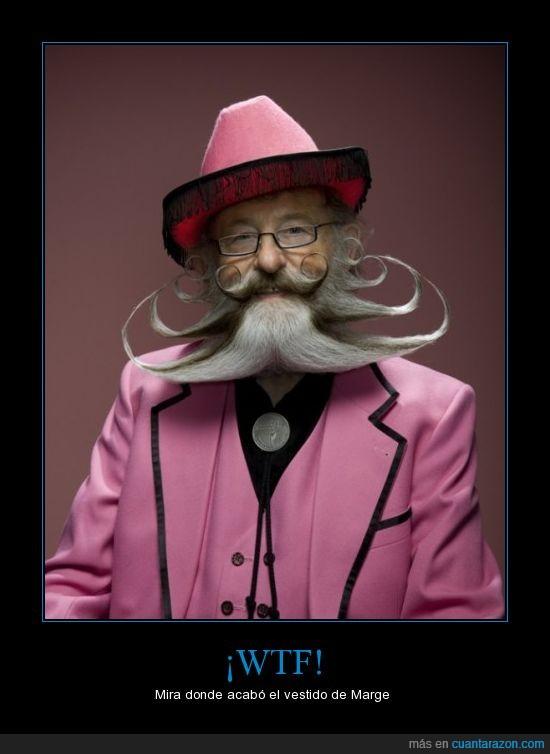 bigote,chanel,marge,vestido