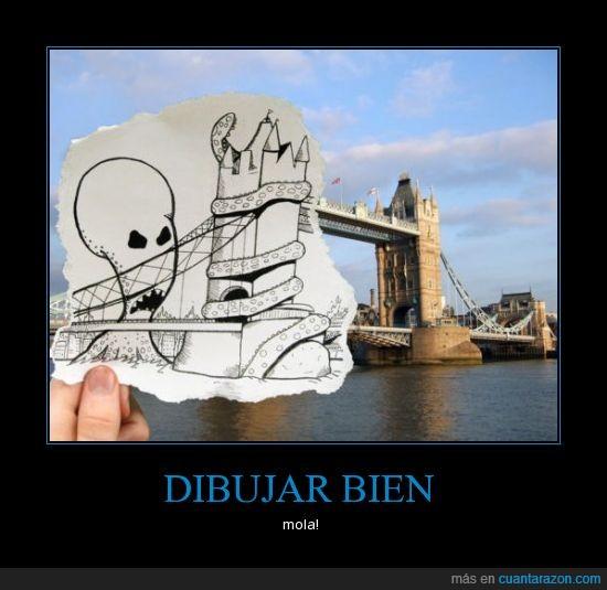 ciudad,dibujar,ilustración,puente