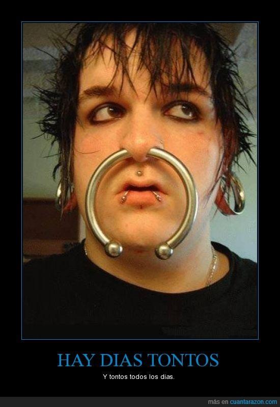 agujero,grande,nariz,piercing,puerta