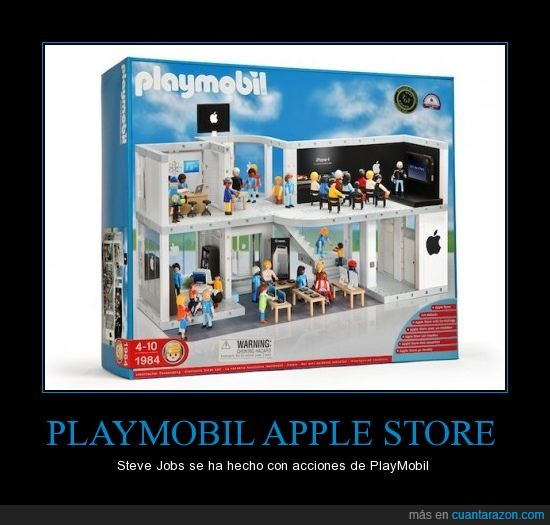apple,playmobil,steve jobs,tienda