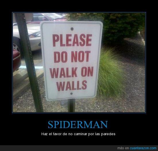 caminar,paredes,spiderman