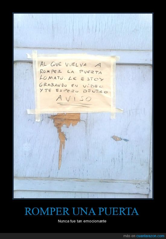 amenaza,aviso,puerta