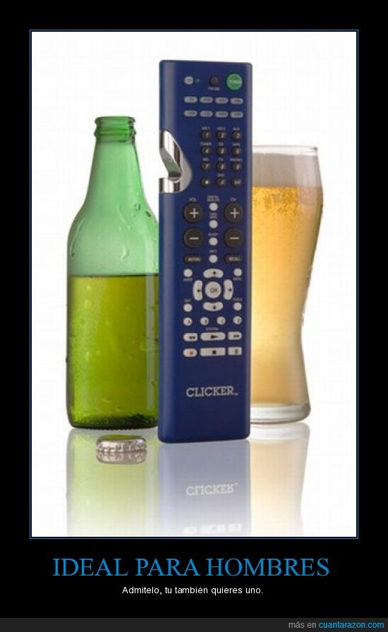cerveza,hombres,pereza,tele